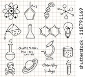 science icons doodles vector set | Shutterstock .eps vector #118791169
