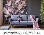 real photo of a living room... | Shutterstock . vector #1187912161