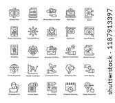 market and economy line icons... | Shutterstock .eps vector #1187913397