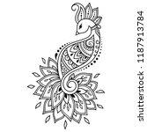 mehndi flower pattern with... | Shutterstock .eps vector #1187913784