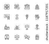 collection of 16 ornament... | Shutterstock .eps vector #1187917201
