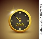 gold vector clock illustrations ... | Shutterstock .eps vector #118791739