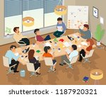concept of the coworking center.... | Shutterstock .eps vector #1187920321