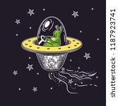 vector image of an alien in a... | Shutterstock .eps vector #1187923741