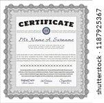 grey sample certificate or... | Shutterstock .eps vector #1187925367