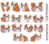 bulldog vector set | Shutterstock .eps vector #1187925664