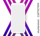 smartphone  frameless mobile... | Shutterstock .eps vector #1187927494