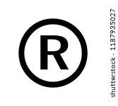 register trademark symbol icon... | Shutterstock .eps vector #1187935027