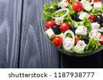 fresh vegetables greek salad .... | Shutterstock . vector #1187938777