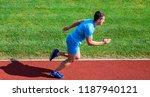 sprinter athlete run training....   Shutterstock . vector #1187940121