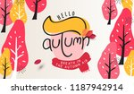 autumn landscape background and ... | Shutterstock .eps vector #1187942914
