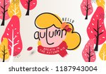 autumn landscape background and ... | Shutterstock .eps vector #1187943004