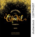 hello carnival text isolated on ... | Shutterstock .eps vector #1187944207