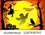 halloween  design   witch ... | Shutterstock .eps vector #1187950747