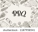 bbq and grill banner with... | Shutterstock .eps vector #1187958541