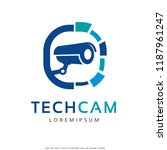 technology cctv camera logo... | Shutterstock .eps vector #1187961247