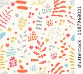 seamless texture with flowers ... | Shutterstock .eps vector #1187968021
