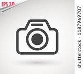camera icon  flat photo camera... | Shutterstock .eps vector #1187969707