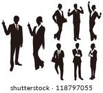 business man woman silhouettes... | Shutterstock .eps vector #118797055