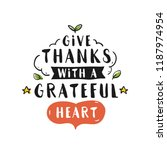 thanksgiving day. logo  text... | Shutterstock .eps vector #1187974954