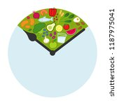 intermittent fasting  time... | Shutterstock .eps vector #1187975041