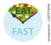 intermittent fasting  time... | Shutterstock .eps vector #1187975044