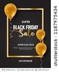 black friday sale backgrond.... | Shutterstock .eps vector #1187975434