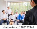 entrepreneurs or  manager teach ... | Shutterstock . vector #1187977441