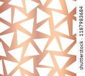rose gold foil triangle... | Shutterstock .eps vector #1187983684
