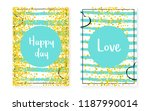 bridal shower card with dots... | Shutterstock .eps vector #1187990014