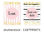 bridal shower card with dots... | Shutterstock .eps vector #1187990071