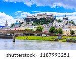 salzburg  austria. festung...   Shutterstock . vector #1187993251