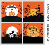 halloween hand drawn invitation ... | Shutterstock .eps vector #1187994301
