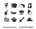 vector food and drink icon set | Shutterstock .eps vector #1187994484