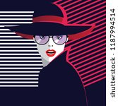 fashion woman in style pop art. ... | Shutterstock .eps vector #1187994514