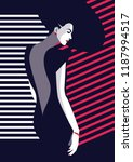 fashion woman in style pop art. ... | Shutterstock .eps vector #1187994517
