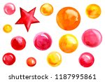 christmas and new year  star... | Shutterstock . vector #1187995861