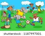 cartoon illustrations of animal ... | Shutterstock .eps vector #1187997001