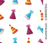 party hats  seamless pattern | Shutterstock .eps vector #1188000361