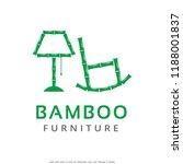 bamboo furniture logo template...   Shutterstock .eps vector #1188001837