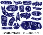 hand drawn set of speech... | Shutterstock .eps vector #1188003271