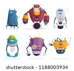 set of robot characters.... | Shutterstock .eps vector #1188003934