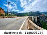 bixby creek bridge on highway 1.... | Shutterstock . vector #1188008284