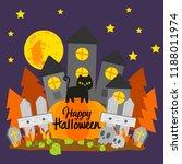happy halloween banner. | Shutterstock .eps vector #1188011974