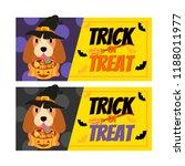 happy halloween banner. | Shutterstock .eps vector #1188011977