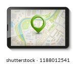 city map route navigation... | Shutterstock .eps vector #1188012541