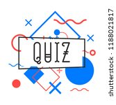 quiz contest card with... | Shutterstock .eps vector #1188021817