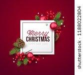 merry christmas background.... | Shutterstock .eps vector #1188022804