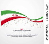 iran happy independence day... | Shutterstock .eps vector #1188024604