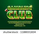 vector luxury emblem gambling...   Shutterstock .eps vector #1188031834